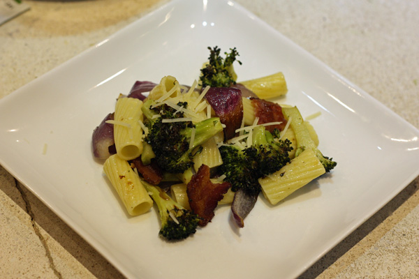 Rigatoni with Roasted Broccoli and Red Onions