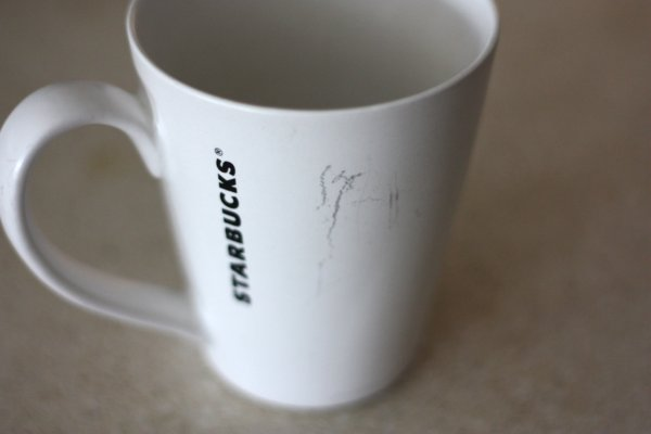 Scratched Coffee Mug