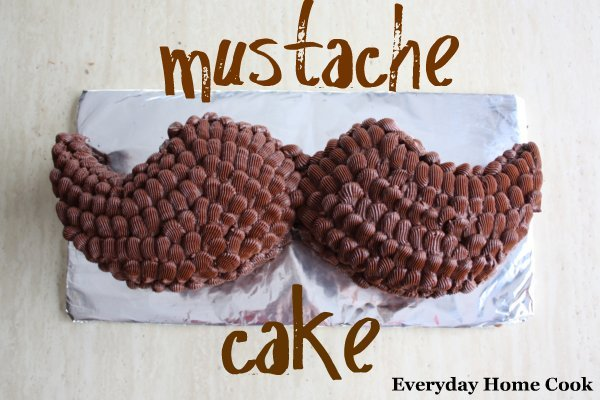 Chocolate Frosting and Mustache Cake Everyday Home Cook