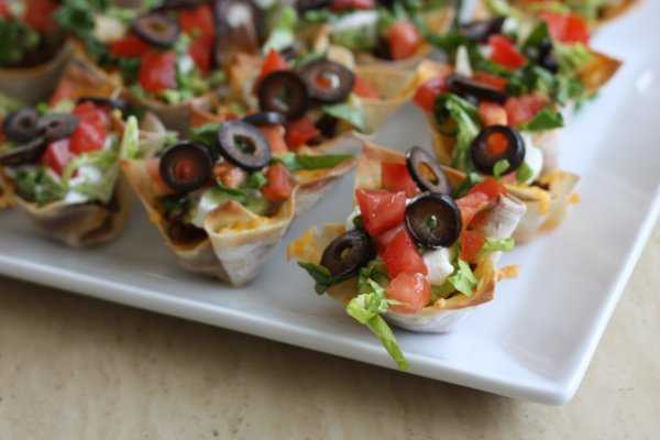 7 Layer Taco Cups